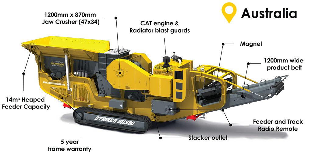 Striker Website - JQ1380 mobile jaw crusher