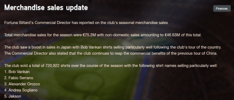 The end of season commercial update after two Asian tours in pre-season