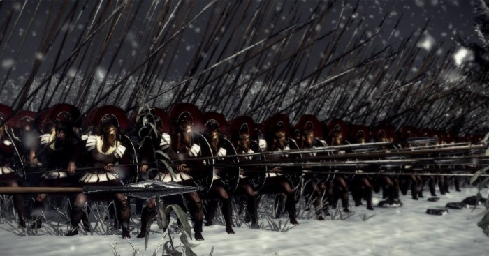 A classic phalanx formation screenshot Rome 2 Total War.