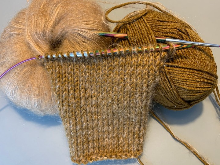 Garn strikkeprøve