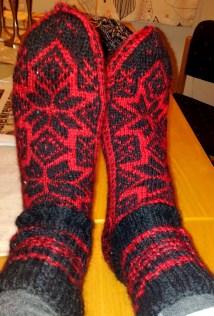 The socks I knitted him