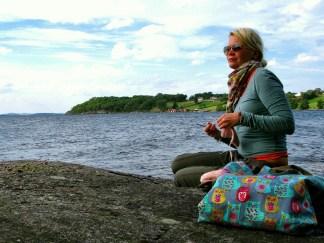 Still love knitting outdoors