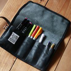 leather roll pen case 08