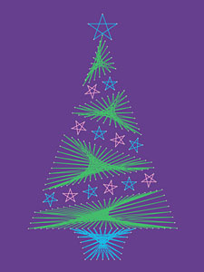 Christmas tree pattern at String Art Fun website