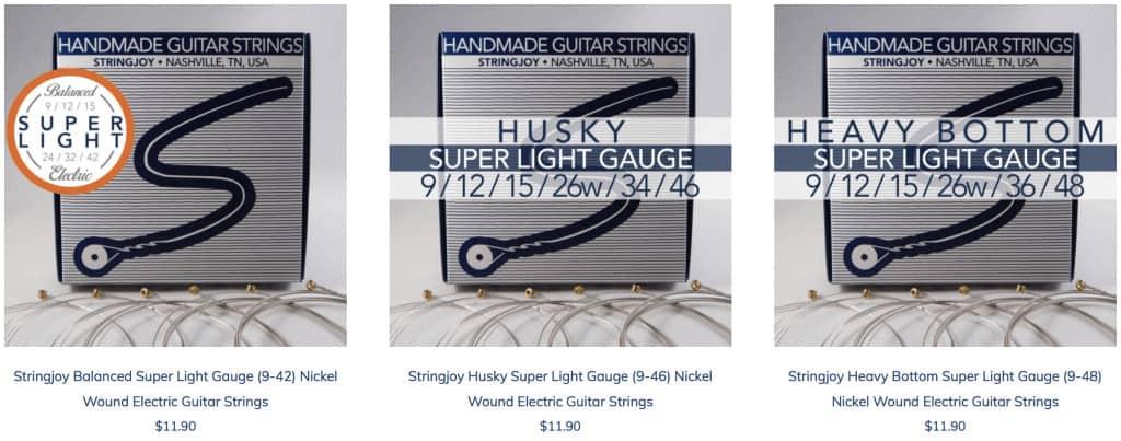 Stringjoy Super Light Electric Guitar Strings   .009 Gauge