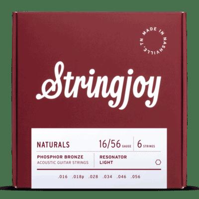 Stringjoy Naturals   Resonator Gauge (16-56) Phosphor Bronze Acoustic Guitar Strings