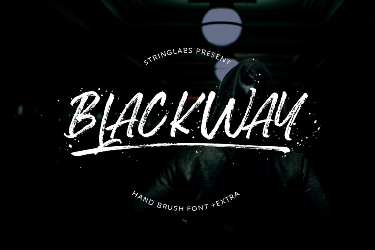 Preview image of Blackway – Handbrush Font