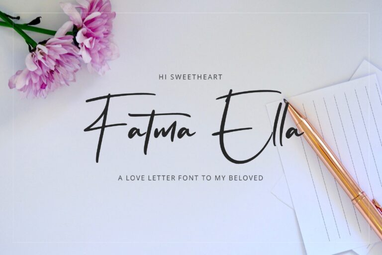 Preview image of Flavellya – Luxury Signature Font