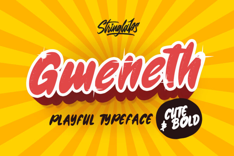 Preview image of Gweneth – Playful Children Typeface