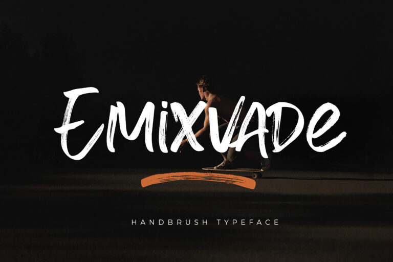 Preview image of Emixvade – Handbrush Font