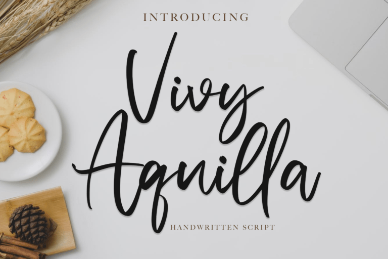 Preview image of Vivy Aquilla – Handwritten Font