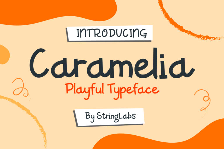 Preview image of Caramelia – Playful Children Typeface