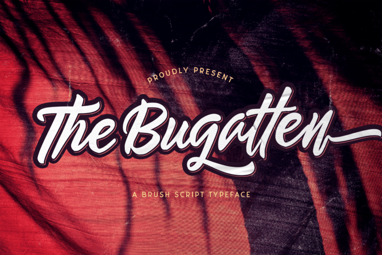Preview image of The Bugatten – Bold Script Font