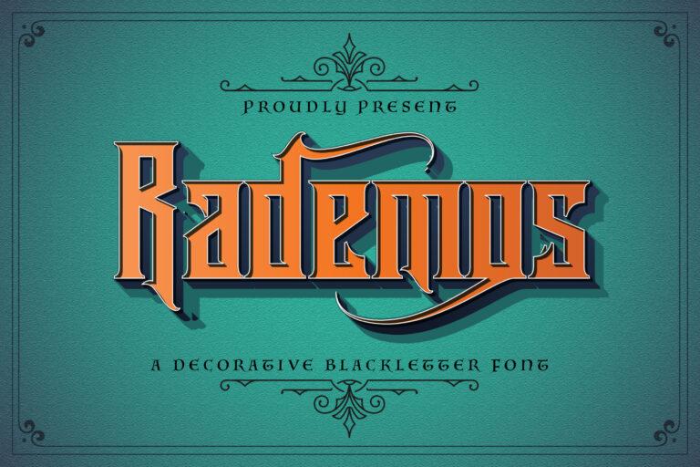 Preview image of Rademos – Blackletter Font