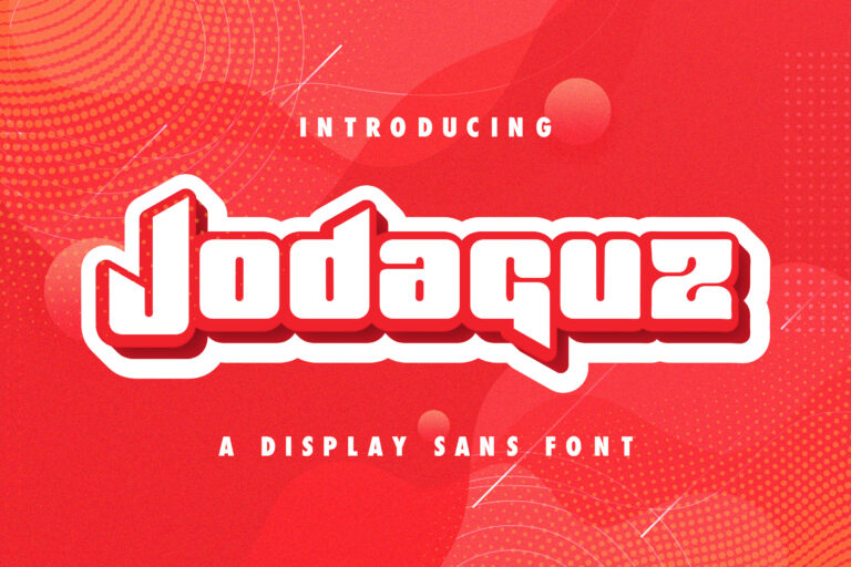 Preview image of Jodaguz – Display Sans Font