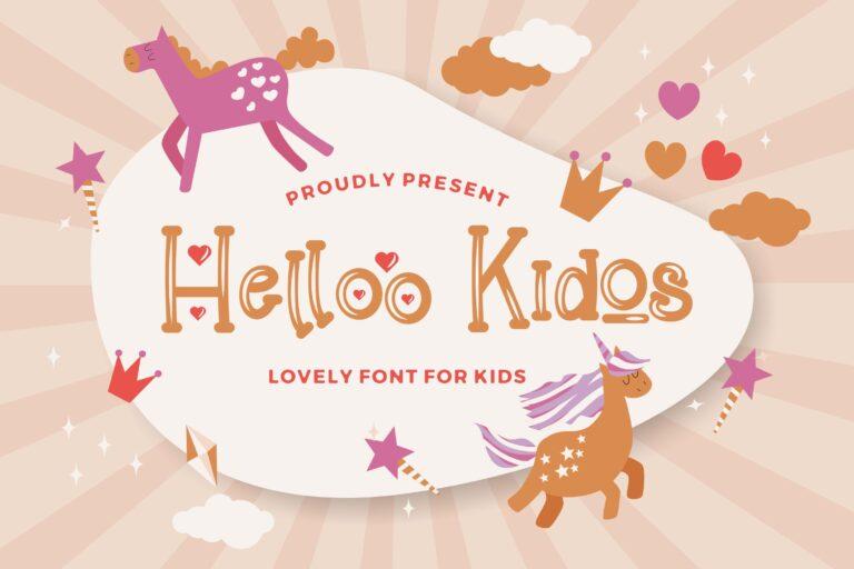 Preview image of Helloo Kidos – Playful Display Font