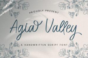Agia Valley - Handwritten Font