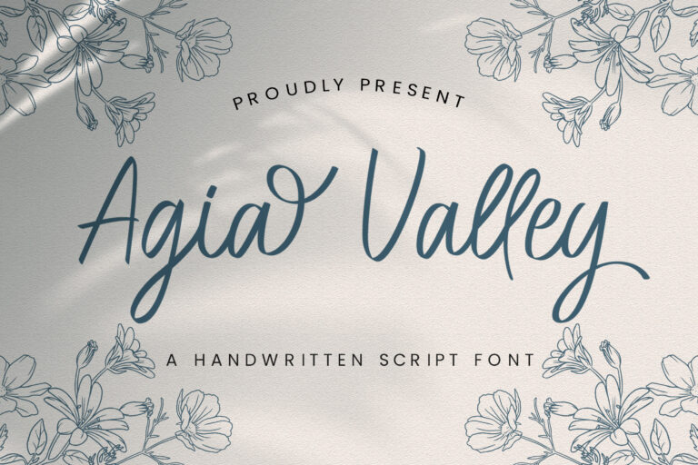 Preview image of Agia Valley – Handwritten Font