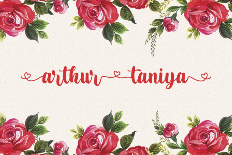 Preview image of Arthur Taniya – Lovely Calligraphy Font