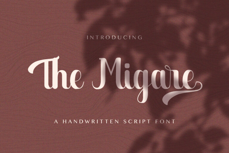 Preview image of The Migare – Handwritten Font