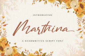 Martina - Handwritten Font