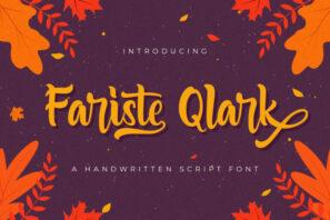 Fariste Qlark - Handwritten Font
