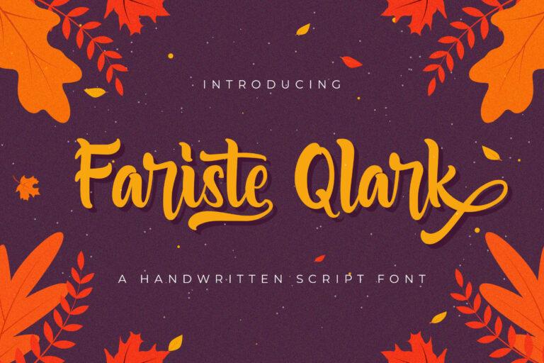 Preview image of Fariste Qlark – Handwritten Font
