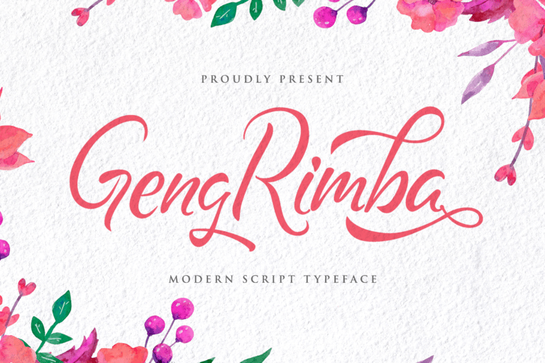 Preview image of Geng Rimba – Modern Script Font