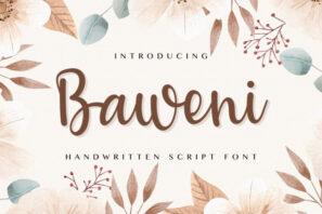 Baweni - Handwritten Script Font