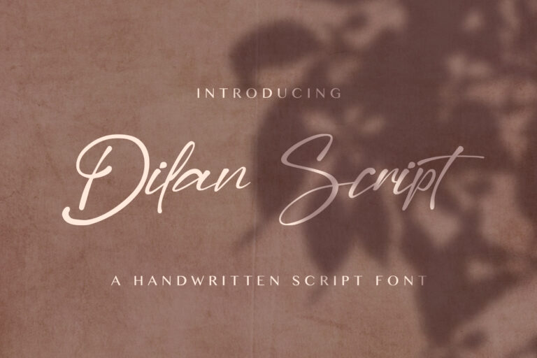 Preview image of Dilan Script – Modern Script Font
