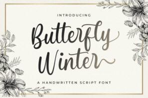 Butterfly Winter - Handwritten Font