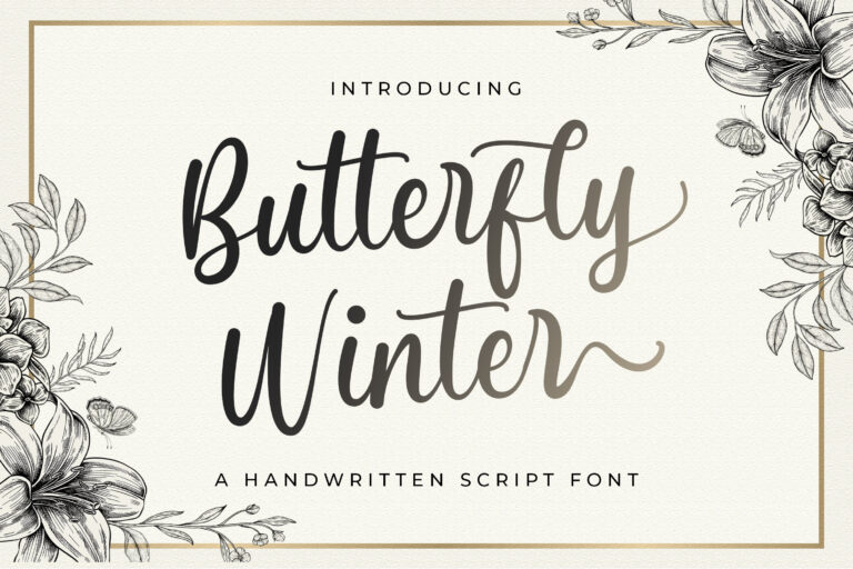 Preview image of Butterfly Winter – Handwritten Font