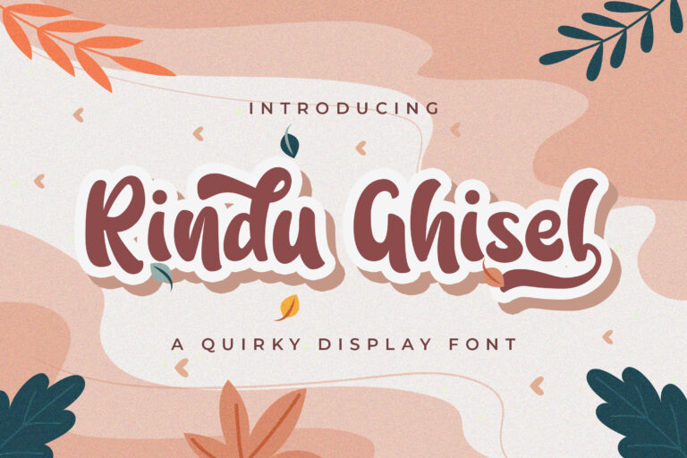 Preview image of Rindu Ghisel – Quirky Script Font