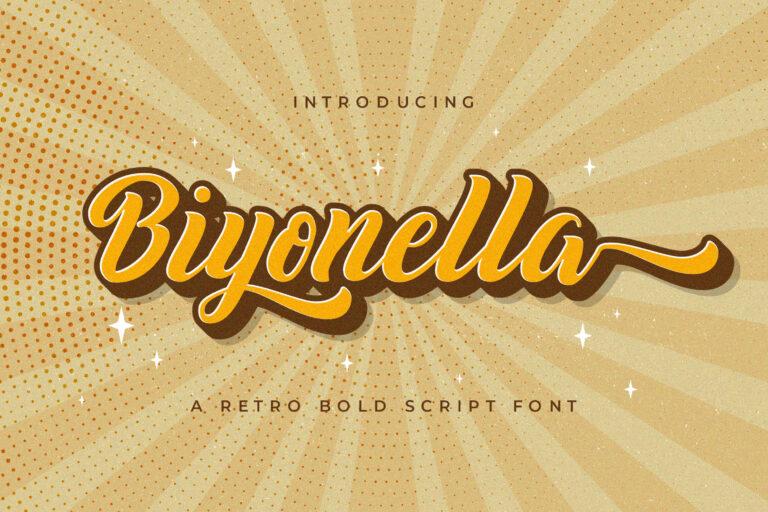 Preview image of Biyonella – Retro Bold Script Font
