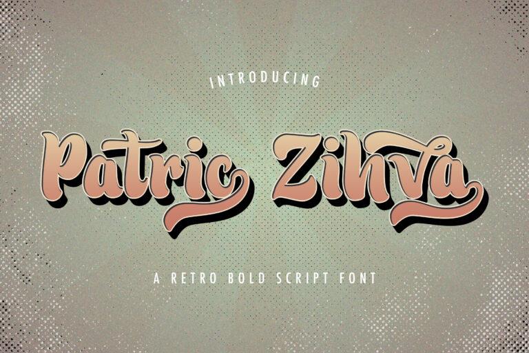 Preview image of Patric Zihva – Retro Bold Script Font