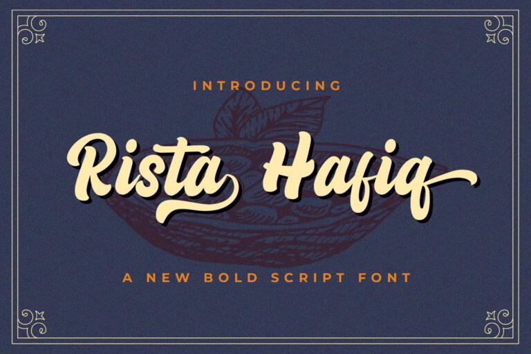 Preview image of Rizta Hafiq – Retro Bold Script Font
