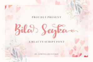 Bila Seyka - Lovely Script Font
