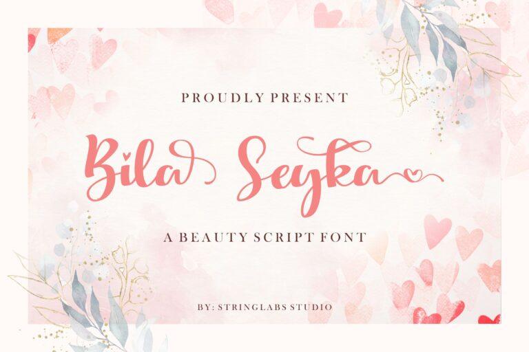 Preview image of Bila Seyka – Lovely Script Font