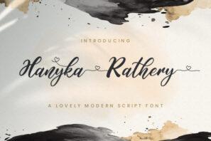 Hanyka Rathery - Lovely Script Font