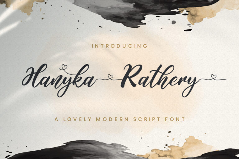 Preview image of Hanyka Rathery – Lovely Script Font