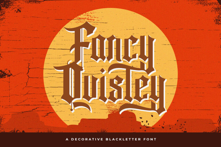 Preview image of Fancy Quisley – Blackletter Font