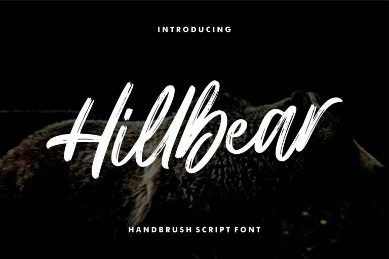 Preview image of Hillbear – Handbrush Script Font