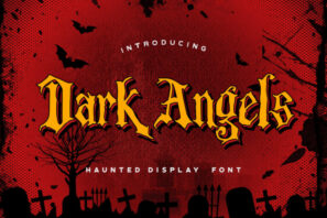 Dark Angels - Haunted Display Font