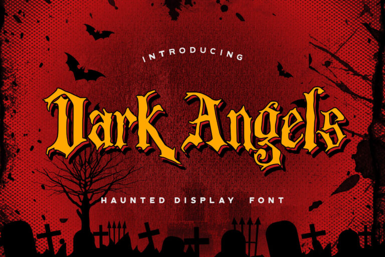 Preview image of Dark Angels – Haunted Display Font