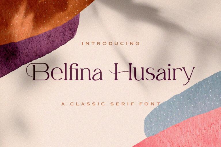 Preview image of Belfina Husairy – Classic Serif Font