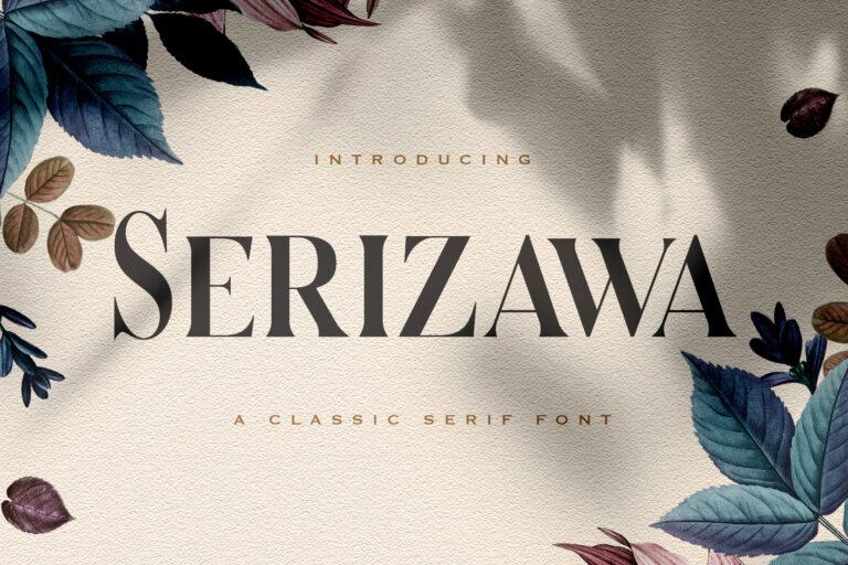 Preview image of Serizawa – Classic Serif Font