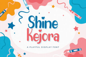 Shine Kejora - Playful Display Font