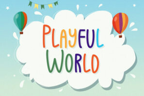 Playful World - Playful Display Font