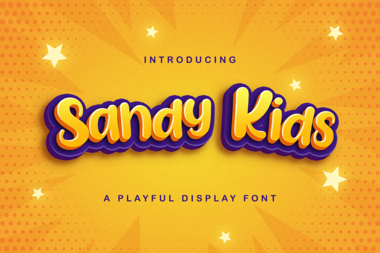 Preview image of Sandy Kids – Playful Display Font