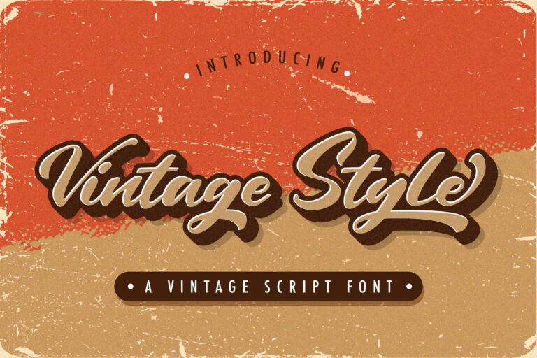 Preview image of Vintage Style – Bold Script Font